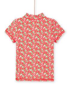 T-shirt anti-UV rosa criança menina LYAMERLUVEX / 21SI01D2TUV309
