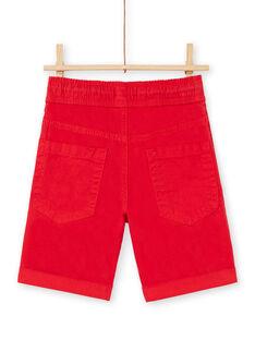 Bermudas vermelhas criança menino LOJOBERMU3 / 21S902F3BER050