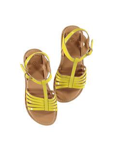 Sandálias citadinas em couro envernizado menina FFSANDOLI1 / 19SK35C4D0E010