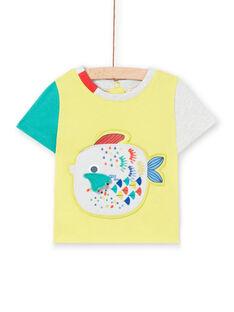 T-shirt amarela bebé menino LUVITI3 / 21SG10U1TMCB115