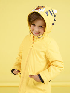 Impermeável amarelo com padrão de tigre menino MOGROIMP1 / 21W90251D59B116