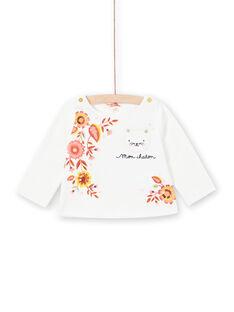 T-shirt branca mangas compridas bebé menina LINAUTEE / 21SG09L1TML001