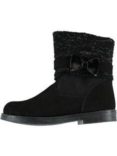 Boots pretos menina GFBOOTRICO / 19WK35X1D0D090