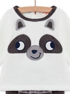 Conjunto pijama em soft boa padrão guaxinim bebé menino MEGAPYJEUR / 21WH1491PYJ001