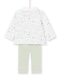 Conjunto camisa e calças branco e caqui recém-nascido menino MOU1ENS4 / 21WF0441ENS001