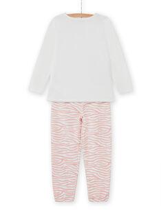 Conjunto pijama T-shirt e calças com padrão de gatos menina MEFAPYJCAT / 21WH1184PYJ001