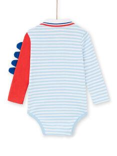 Body às riscas azul bebé menino LUCANBOD / 21SG10M1BOD000