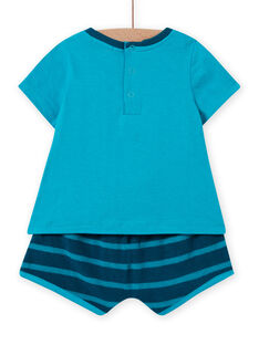 Conjunto de praia azul e turquesa bebé menino LUPLAENS2 / 21SG10T1ENS202
