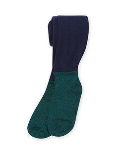 Collants azul-marinho e verde menina MYATUCOL1 / 21WI01K2COL070
