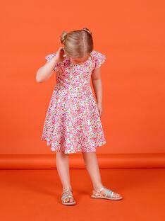 Vestido rosa e verde estampado florido LAVIROB4 / 21S901U4ROB000