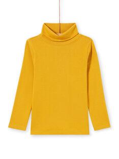 Camisola interior de mangas compridas lisa amarelo menino MOJOSOUP1 / 21W902N1SPL113