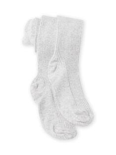 Collants lisos cinzento mesclado menina MYAJOSCOL4 / 21WI0112COL943