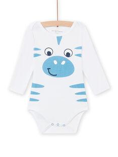 Body branco padrão zebra bebé menino MEGABODZEB / 21WH14C1BDL000