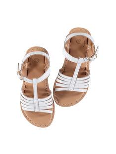 Sandálias citadinas em couro envernizado menina FFSANDOLI3 / 19SK35C8D0E000