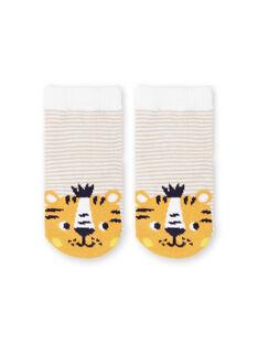 Meias brancas e amarelas às riscas bebé menino LYUBALCHO / 21SI10O1SOQ000