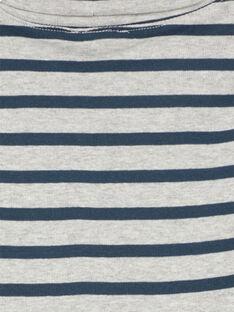 Camisola interior Cinzento mesclado às riscas Azul-Marinho GOJOSOUP5 / 19W902L3D3B943