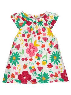 Vestido em popeline bebé menina FIYEROB2 / 19SG09M2ROB000