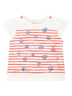 T-shirt mangas curtas estampado bebé menina FITOTI2 / 19SG09L2TMC000