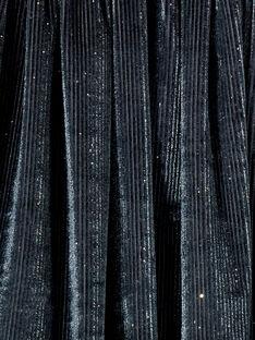 Saia em veludo com purpurinas prateadas, cinto em lurex prateado KABOJUP1 / 20W901N1JUPJ916