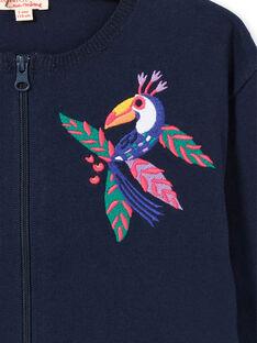 Casaco de malha mangas compridas bordado LANAUCAR / 21S901P1CARC205