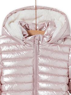 Blusão impermeável rosa metalizado menina MALONDOUN1 / 21W90158D3ED300