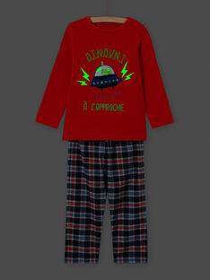 Conjunto pijama padrão extraterrestre menino MEGOPYJSPA / 21WH1284PYJE414