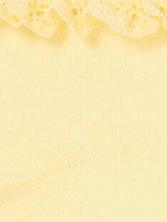 Meias amarelas criança menina LYAJAUSOCK / 21SI01O1SOQ116