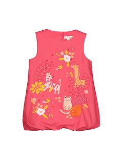 Vestido largo em algodão bebé menina FIBAROB2 / 19SG0962ROB308