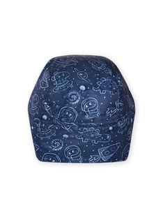 Chapka azul-noite com estampado do espaço bebé menino MYUPLACHA / 21WI1064BONC243