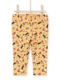 Leggings amarelo e vermelho estampado florido bebé menina MYIMIXLEG / 21WI09J1CALB106