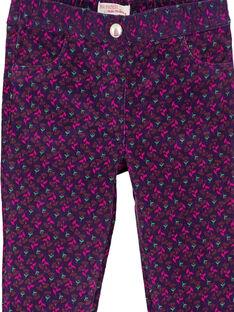Calças em veludo estampado GAVIOPANT / 19W901R1PAN708