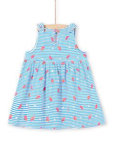 Vestido branco bebé menina LIPLAROB1 / 21SG09T3ROB000