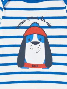 Body recém-nascido menino com mangas compridas às riscas cachorro marinheiro LEGABODOG / 21SH142ABDL001