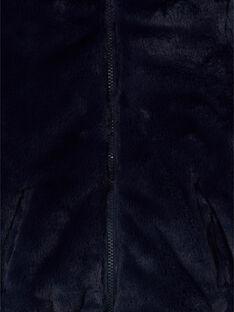 Casaco reversível com capuz azul com estampado decorativo LAFOUDOUNE / 21S901R1D3E070