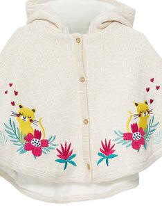 Capa em tricô bebé menina JIVICAPE / 20SG09I1CPE001