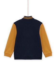 Casaco de malha amarelo e azul-marinho menino MOTUGIL1 / 21W902K1GIL705