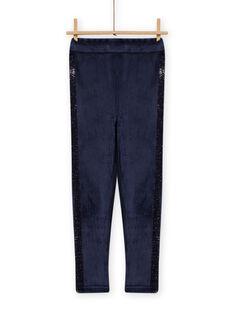 Leggings azul-marinho forradas menina MAJOLEG5 / 21W901N7PAN070