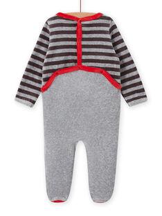 Babygro cinzento padrão panda bebé menino MEGAGREPAN / 21WH1483GREJ918
