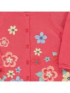 Baby girls' cotton cardigan CIBUCAR2 / 18SG09K2CARF515