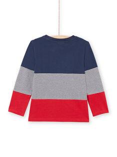 T-shirt azul-marinho e vermelha menino MOJOTIDEC1 / 21W90229TML705