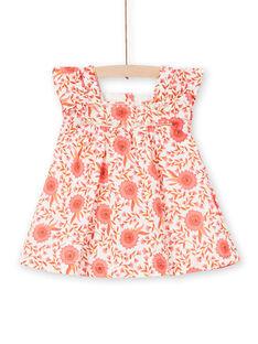 Vestido estilo patinadora estampado florido bebé menina LINAUROB1 / 21SG09L2ROB001
