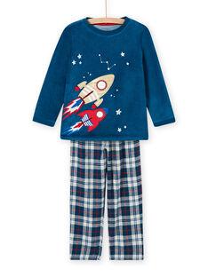 Conjunto de pijama com padrão de espaço fosforescente menino MEGOPYJFUZ / 21WH1297PYJC214