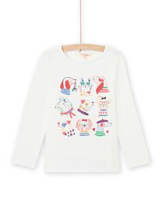 T-shirt de mangas compridas estampado decorativo menina MAMIXTEE5 / 21W901J1TML001