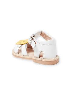 Sandálias brancas bebé menina LBFSANDALMA / 21KK3752D0E000