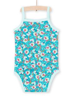 Body turquesa bebé menina LEFIBODMOT / 21SH13G3BDLC216