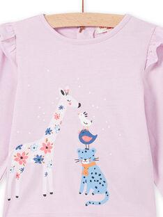 T-shirt rosa com padrão fantasia bebé menina MIPLATEE / 21WG09O1TML326