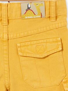 Bermudas amarelo-mostarda criança menino LOTERBER5 / 21S902V5BERB101