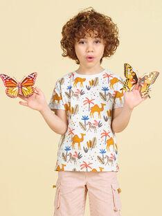 T-shirt cru estampado dromedário e palmeira criança menino LOTERTI1 / 21S902V4TMC006