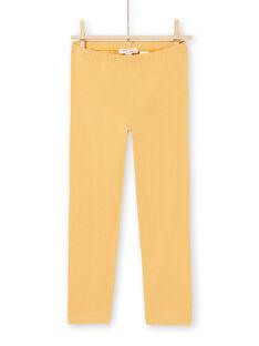 Leggings amarelas menina MYAJOLEG2 / 21WI0112CALB106