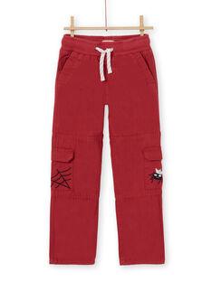 Calças cargo vermelhas - Criança Menino LOROUPAN / 21S902K1PANF506